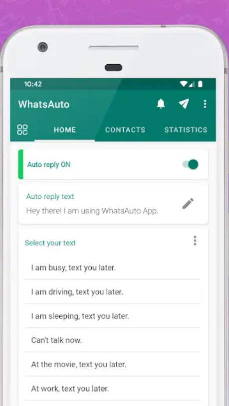 How to Activate Auto reply